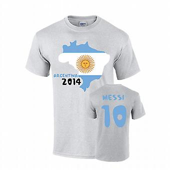 Argentina 2014 Country Flag T-shirt (messi 10)