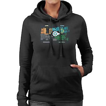 The Crystal Maze Zones Floor Plan Women's Hooded Sweatshirt