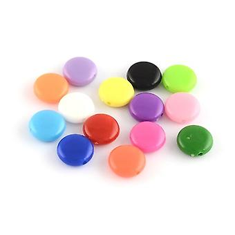 Packet 60+ Mixed Acrylic 4 x 8mm Flat Coin Beads HA25710