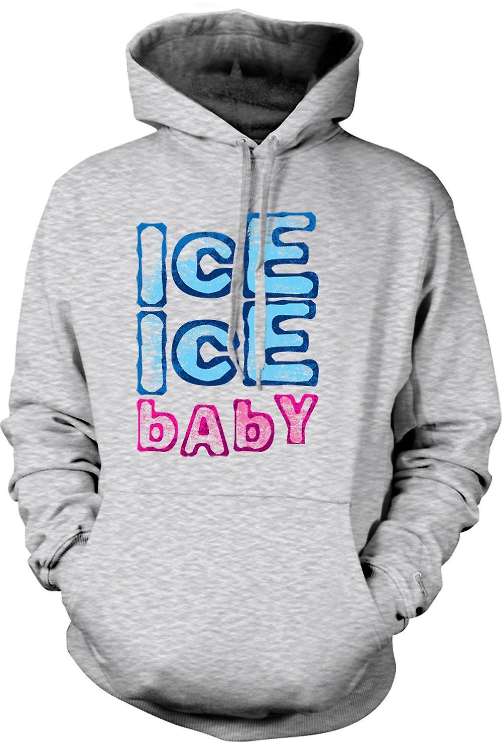 Mens Hoodie - Vanilla Ice - Ice Ice Baby - Funny