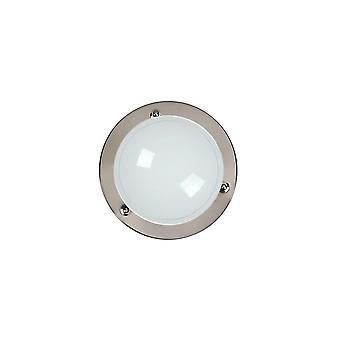 Lucide Basic Retro ronde glas Gun Metal Flush plafondlamp
