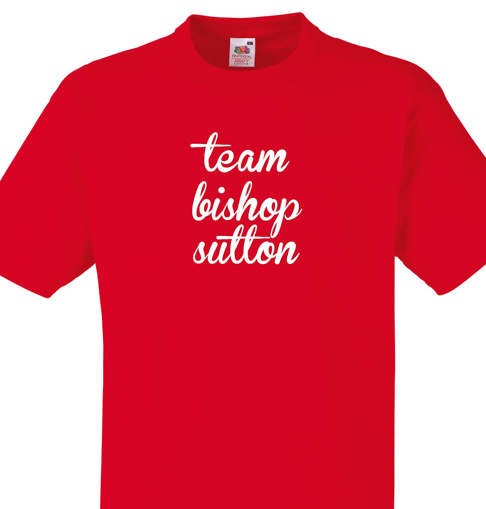 Team Bishop sutton Red T shirt