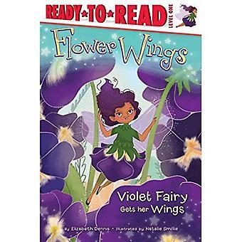 Hada violeta consigue sus alas (alas de flor)