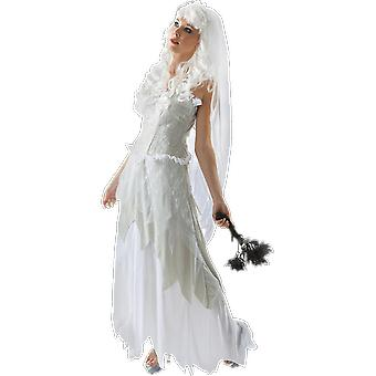 Orion Costumes Womens Ghostly Mariée Robe de mariée Halloween Fancy Dress Costume