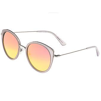 Bertha Sasha Polarized Sunglasses - Silver/Rose Gold