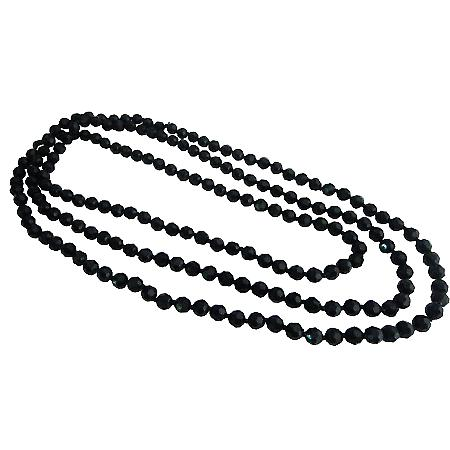 Fancy Fashionable Black Long Chain Multifaceted Long Necklace Jewelry