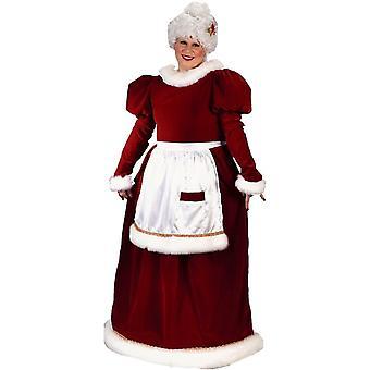 Santa femelle Plus taille Costume adulte
