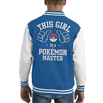 Dit meisje Is een Pokemon Master Kid's Varsity Jacket