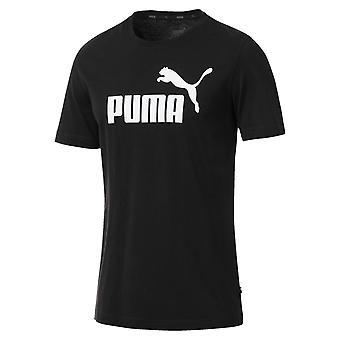 بوما أساسيات شعار الرياضة رجالي أزياء اللياقة البدنية التدريب القميص الأسود