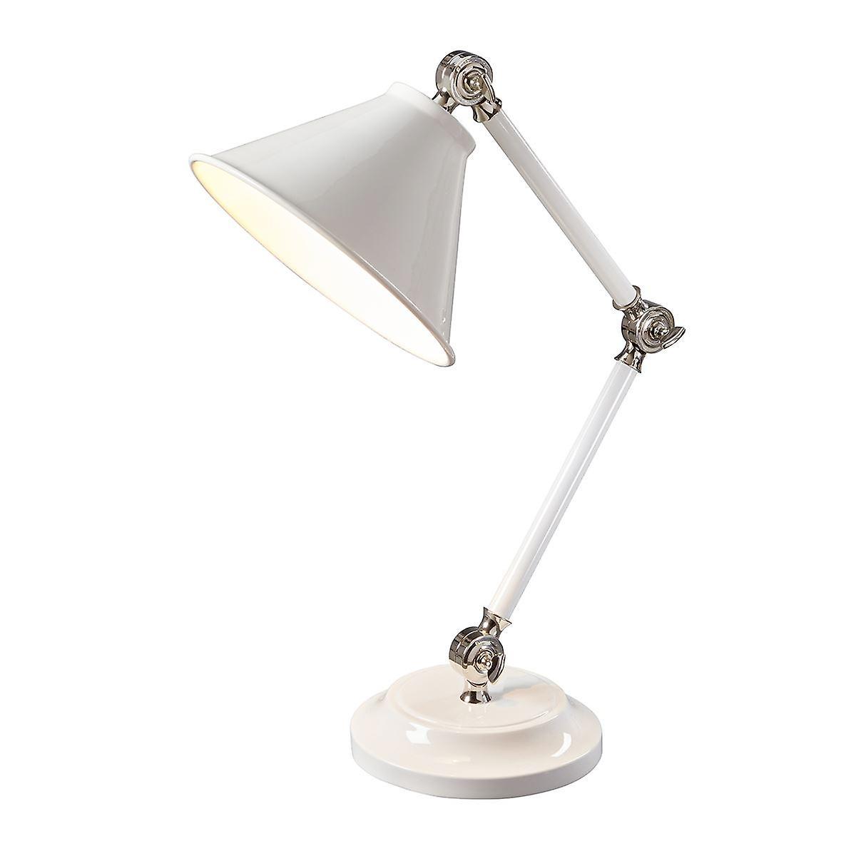 Elstead - 1 lumière Mini Table Lamp - blanc Polished Nickel - PV ELEHommesT WPN