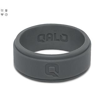 Qalo Mens Q2X Step Edge Silicone Ring with Carrying Case - Smoke Gray