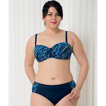 Aqua Perla - Womens -deep Blue- Blue Wave- Plus Size- Bikini Top