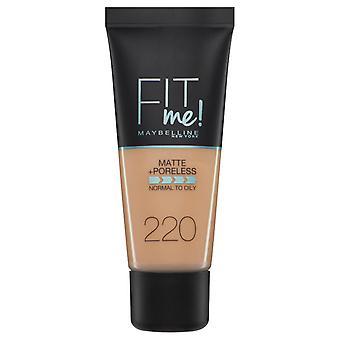 Maybelline Fit Me Matte + Poreless Foundation- 220 Natural Beige