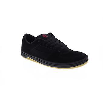 Etnies Senix Lo Mens Black Suede Athletic Lace Up Skate Shoes