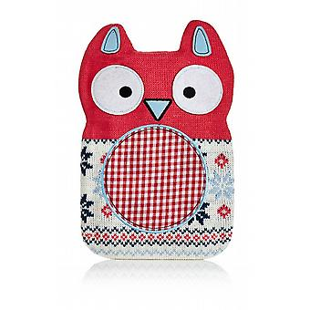 Hot Buddies Red Owl Knitted Hot Water Bottle