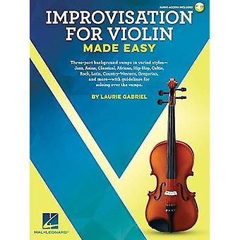 GABRIEL LAURIE IMPROVISATION MADE EASY VIOLIN BOOK/AUDIO ONLINE - 978