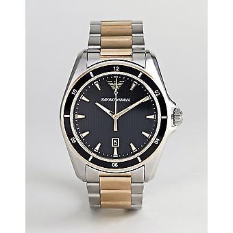 Emporio Armani Ar80017 Two Tone Steel Bracelet Men's Watch