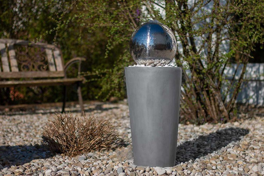 Ball Fountain Garden Fountain Fountain FoBoule grey with stainless steel ball 75cm 10865