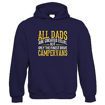 Finaste pappor Drive campervans mens hoodie-fäder dag födelsedag Xmas | Camper Beetle surfing Van Beach Cali Trip Ocean | Delad skärm campervan Camping hus bil resor | Att biliera honom