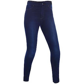 Oxford Indigo Super Jeggings-Regular Womens Motorcycle Jeans