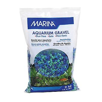 Marina Decorative Aquarium Gravel Tri-Colour Blue 2kg