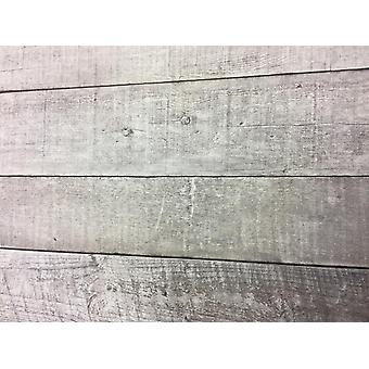 Grey Wood Effect Wallpaper Plank Board Panel Retro Vinyl Paste Wall Erismann