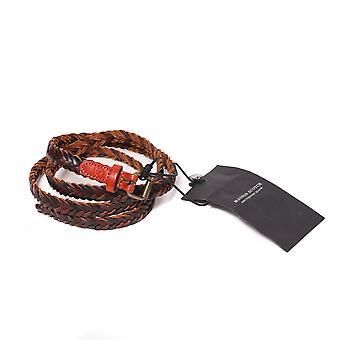 迈森苏格兰多科勒编织皮革皮带