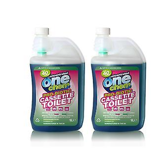 Probiotische Kassette Toilettenflüssigkeit Ein Chem 2 x 1L Konzentrat