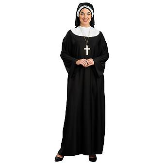 Nonne Schwester Oberin Deluxe religiösen Gewohnheit Damen Kostüm Brautkleider in Übergrößen
