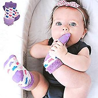 Baby Accessories - Nuby - Soothing Teether Sock Purple Butterfly New 80341
