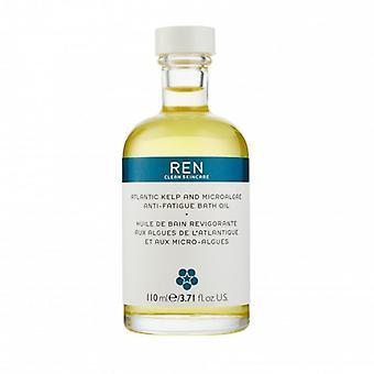 REN Atlantische kelp en microalgen Anti-vermoeidheid badolie 110ml