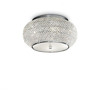 Ideal Lux Pasha 6 Bulb Surface Spotlight Chrome