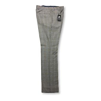 Guide London trousers in brown/blue check