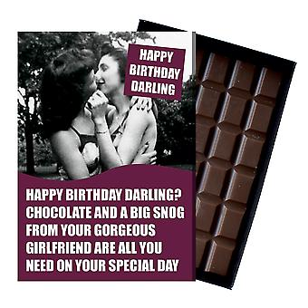 Rolig lesbisk födelsedagspresent till civil partner hbt Queer Chocolate gratulationskort present CDL219