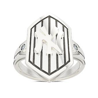 New York Yankees kvinders diamant Pinstripe logo skjold ring
