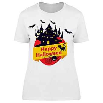 Happy Halloween Castle Tee Women's -Image by Shutterstock