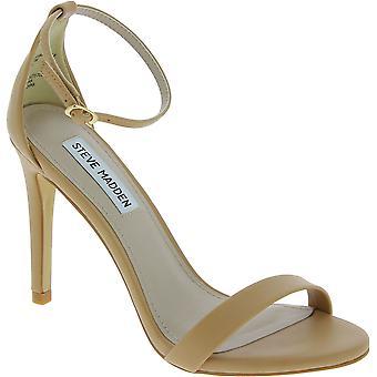 Steve Madden Women's high stiletto heels sandals buckle in nude faux leather