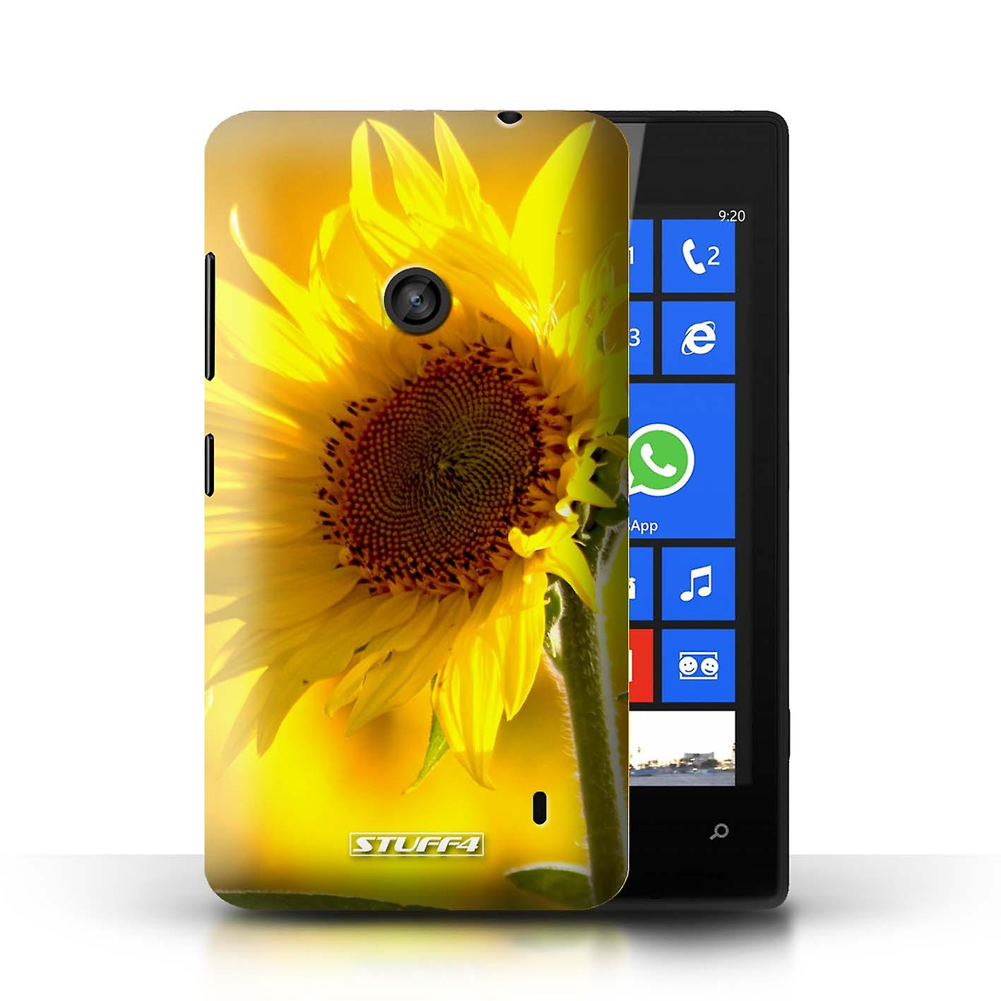 STUFF4 Case/Cover For Nokia Lumia 520/Yellow Flower/Floral
