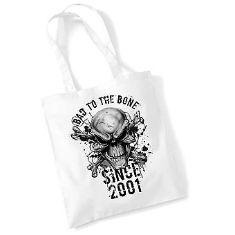 18th Birthday Tote Bag Bad To Bone 2001 Novelty Birthday Gifts