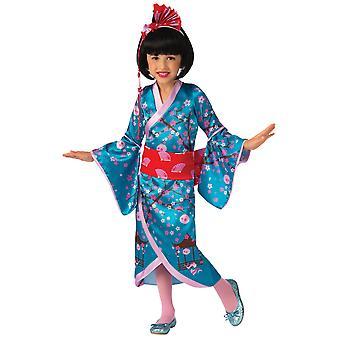 Cherry Blossom Princess Asian Mulan Japanese Geisha Kimono Girls Costume