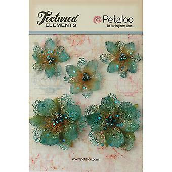 Textured Elements Jeweled Flowers 5 Pkg Teal P1133 10