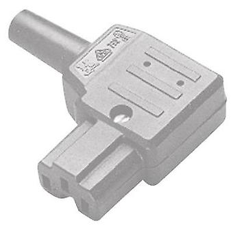 Hot wire connector C15A ATT.LOV.SERIES_POWERCONNECTORS 792 Socket, right angle Total number of pins: 2 + PE 10 A Grey Ka