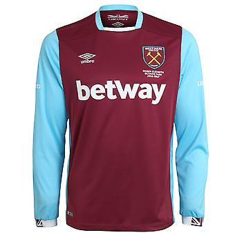 2016-2017 West Ham Home Long Sleeve Football Shirt