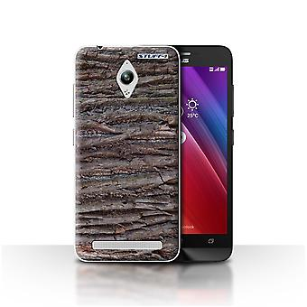 STUFF4 Case/Cover for Asus Zenfone Go ZC500TG/Textured/Brown/Tree Bark