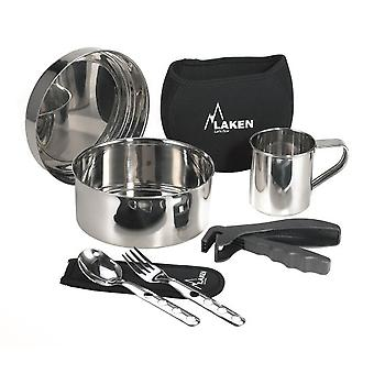 Laken St. steel kitchen set 17 cm. with neoprene sleeve and cup