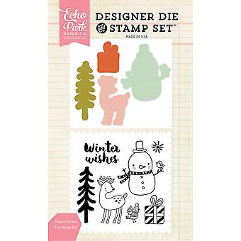 Echo Park Die & Stamp Combo Set-Winter Wishes EPDIST51