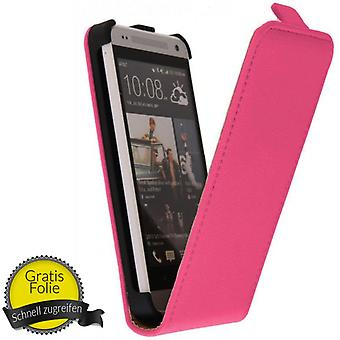 Exclusive Flip Handy Tasche Case für Handy HTC One mini / M4 + Folie