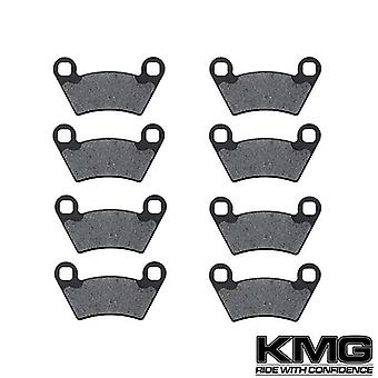 KMG 2006 Polaris Ranger TM Front + Rear Non-Metallic Organic NAO Brake Pads Set