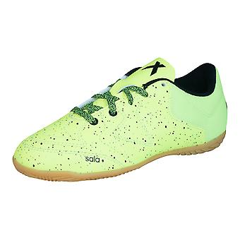 adidas X 15.3 CT Boys Indoor Football Trainers - Light Green