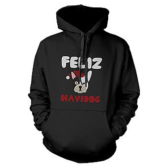 Feliz Navidog Bulldog Hoodie Christmas Sweatshirt For Dog Lovers